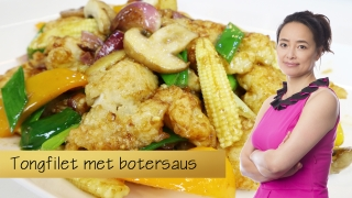 Tongfilet met botersaus